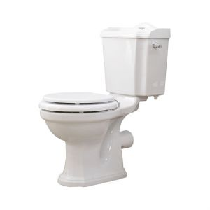 2905 / 2906 Perrin & Rowe Edwardian Close Coupled WC with Optional Seat - Nickel Finish